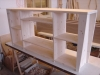 Open dressoir vuren met whitewash